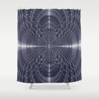 metallic Shower Curtains featuring Metallic Light by Lynn Bolt