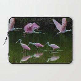 Spoonbill Cranes Laptop Sleeve