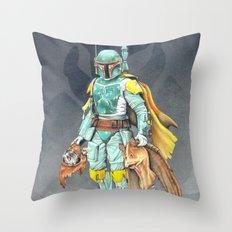 Star Wars Boba Fett and friends Throw Pillow