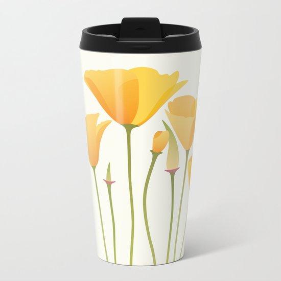 Sunkissed Poppies I Metal Travel Mug