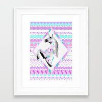 kris tate Framed Art Prints featuring ▲TWIN SHADOW ▲by Vasare Nar and Kris Tate  by Kris Tate