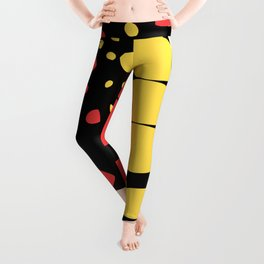 Abstract Butterfly Print Leggings