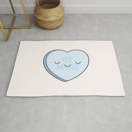 Blue Sweet Candy Heart Rug