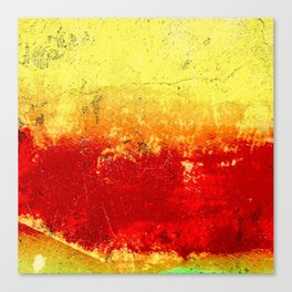 Vibrant Yellow Sunset Glow Textured Abstract Canvas Print