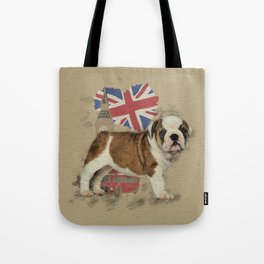 English Bulldog Puppy Sketch Tote Bag