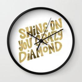 Shine On You Crazy Diamond – Gold Palette Wall Clock