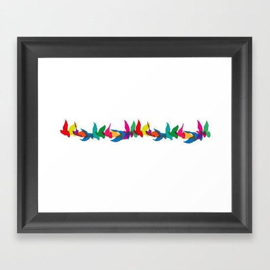 A colourful flight of fancy Framed Art Print