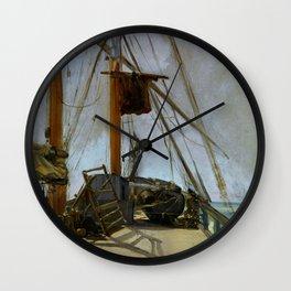 "Édouard Manet ""The ship's deck"" Wall Clock"