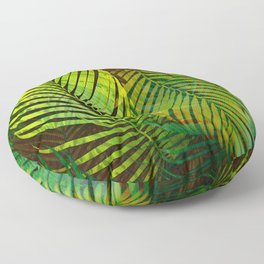 TROPICAL GREENERY LEAVES Floor Pillow