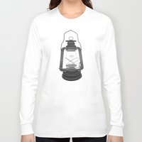 fireflies Long Sleeve T-shirts featuring Cage of Fireflies by Erik Sandi Satresa