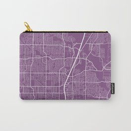 Plano Map, USA - Purple Carry-All Pouch
