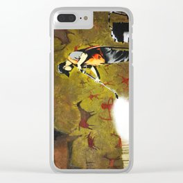 Banksy, Cave Paintings Clear iPhone Case