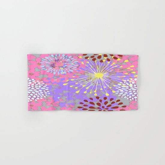 Floral Explosion Abstract Hand & Bath Towel