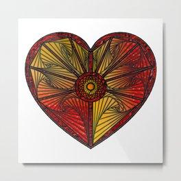 Spyro Heart on White Metal Print
