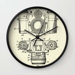 Photographic Camera with coupled exposure meter-1962 Wall Clock