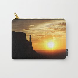 Sunrise over Monument Valley West Mitten Butte Carry-All Pouch