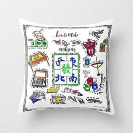 How to make Mahjong? Throw Pillow