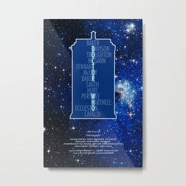 Doctor Who - Thirteen Doctors Metal Print