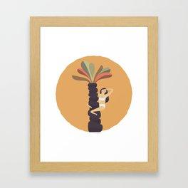 Stare at the sun Framed Art Print