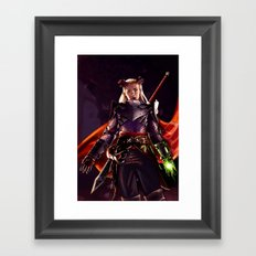 Dragon Age Inquisition - Eva the Qunari warrior Framed Art Print