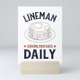 Football Lineman, Serving Pancakes Daily Mini Art Print