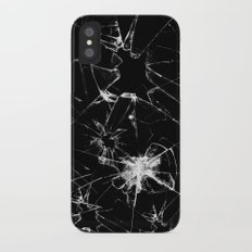 Shatterd+black iPhone X Slim Case
