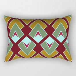 Green Geometric Rectangular Pillow