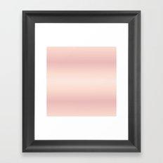 Rose Gradient Stripes Framed Art Print