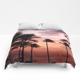 Palm Tree Sunset Comforters