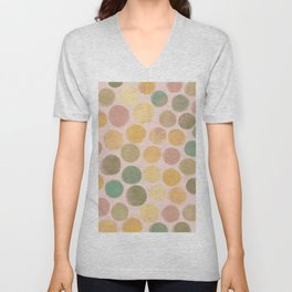 Spotty Pastel Unisex V-Neck