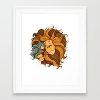lion Framed Art Prints featuring Lion by Tatiana Obukhovich