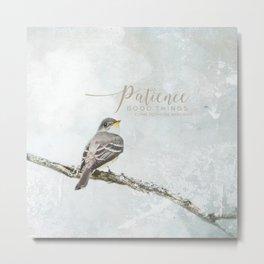 Patience Metal Print