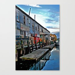 Market on the side Canvas Print
