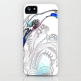 Blue Flamingo Illustration iPhone Case