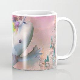 Space Unicorn Axolotl Mexican Walking Fish - Rainbow Coffee Mug