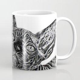 black and white Sphinx Coffee Mug