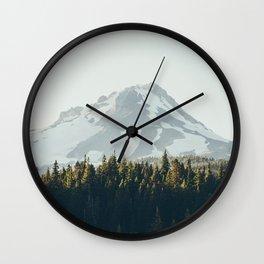 mountain magic hour II Wall Clock