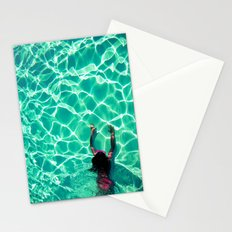 The swimming pool - for iphone Stationery Cards