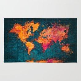 world map art series Rug