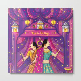 Indian Wedding Sangeet Dance Metal Print