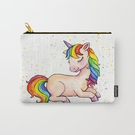 Sleeping Rainbow Unicorn Carry-All Pouch