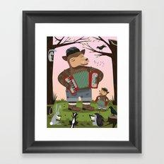 The Accordion Bears Framed Art Print