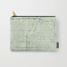 Las Vegas Map Blue Vintage Carry-All Pouch