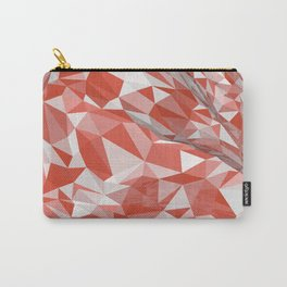 Abstract coral white modern geometrical triangles Carry-All Pouch