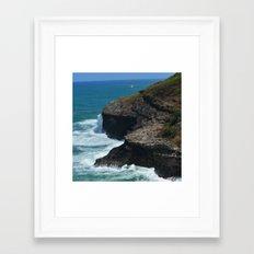 Ocean from Kilauea Lighthouse Framed Art Print