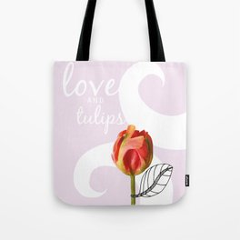 Love and Tulips Tote Bag