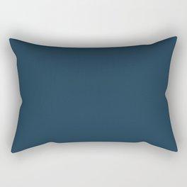 Cloud Contemplation ~ Dark Blue Rectangular Pillow