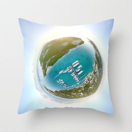 Tiny Planet Turks and Caicos Throw Pillow