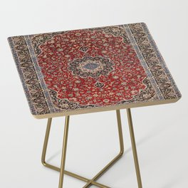 N63 - Red Heritage Oriental Traditional Moroccan Style Artwork Side Table