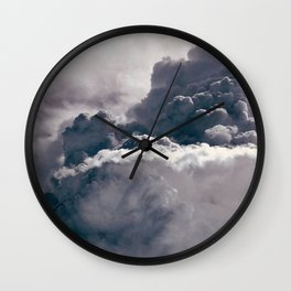 Heavy Thunder Clouds - Spectacular Aerial Photography Wall Clock